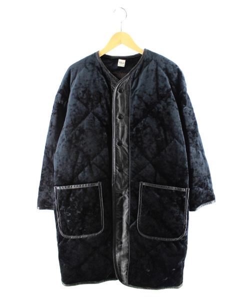Ron Herman(ロンハーマン)Ron Herman (ロンハーマン) ベルベットキルトダウンコート ブラック サイズ:Sの古着・服飾アイテム