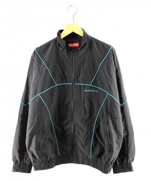 Supreme(シュプリーム)Supreme (シュプリーム) Piping Track Jacket ブラック サイズ:Mの古着・服飾アイテム