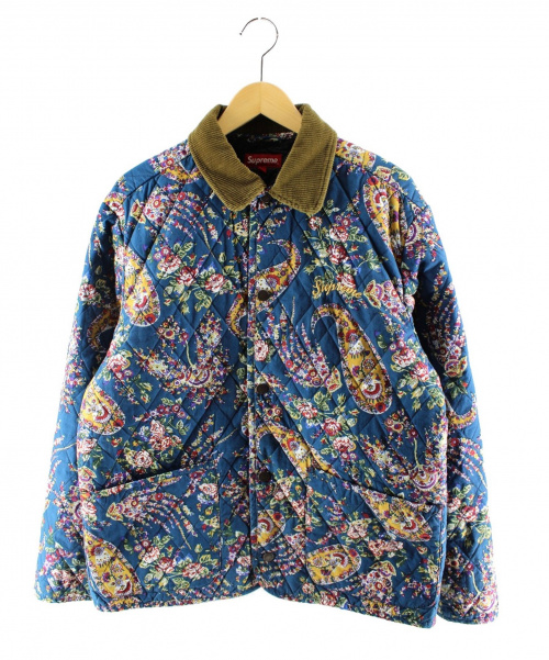 Supreme(シュプリーム)Supreme (シュプリーム) Quilted Paisley Jacket ブルー サイズ:Mの古着・服飾アイテム
