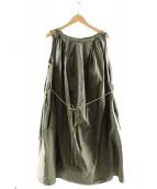 SOFIE DHOORE(ソフィードール)の古着「ギャザーワンピース」|カーキ