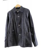 POST OALLS(ポストオーバーオールズ)の古着「デニムカバーオール」 インディゴ