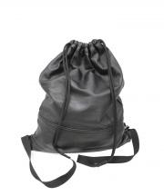 BLACK COMME des GARCONS(ブラックコムデギャルソン)の古着「レザーナップサック」|ブラック