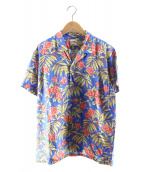 BEDWIN &THE HEARTBREAKERS(ベドウィンドアンドザ ハートブレイカーズ)の古着「オープンカラーシャツ」|ブルー