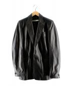 RUFFO RESEARCH(ルッフォリサーチ)の古着「レザーテーラードジャケット」|ブラック