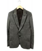 UNDERCOVER(アンダーカバー)の古着「ツイードテーラードジャケット」|オリーブ
