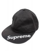 Supreme(シュプリーム)の古着「バイザーラベル6パネルキャップ」|ブラック