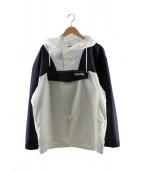 NAPAPIJRI(ナパピリ)の古着「フーデッドジャケット」|ネイビー×ホワイト