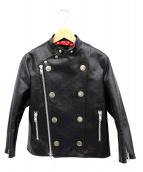 tricot COMME des GARCONS(トリコ コムデギャルソン)の古着「ライダースジャケット」 ブラック