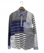 BROOKS BROTHERS Red Fleece(ブルックスブラザーズレッドフリース)の古着「プルオーバーパッチワークシャツ」|ブルー