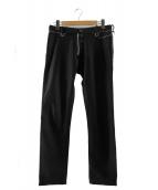 UNDERCOVERISM(アンダーカバイズム)の古着「ジッププリントパンツ」|ブラック