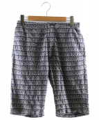 Engineered Garments(エンジニアードガーメン)の古着「総柄ハーフパンツ」 ネイビー