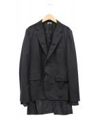 COMME des GARCONS HommePlus(コムデギャルソンオムプリュス)の古着「レイヤードテーラードジャケット」|ブラック