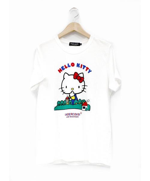 UNDERCOVER × サンリオ()UNDERCOVER × サンリオ (アンダーカバー) ハウスTシャツ ホワイト サイズ:M 未使用品 青山限定 ×サンリオの古着・服飾アイテム