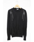 Dior Homme(ディオールオム)の古着「デザインニット」|ブラック