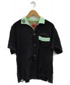 KEONI OF HAWAII(ケオニオブハワイ)の古着「オープンカラーシャツ」|ブラック