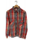 Joe McCOY(ジョーマッコイ)の古着「ネルシャツ」|グレー×レッド
