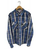 Joe McCOY(ジョーマッコイ)の古着「ネルシャツ」|ブルー
