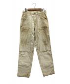 FREEWHEELERS(フリーホイーラーズ)の古着「ユーズド加工ペインターパンツ」 ベージュ