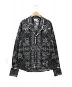 RHUDE(ルード)の古着「バンダナウェスタンパジャマシャツ」|ブラック