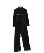 COMME des GARCONS HommePlus(コムデギャルソンオムプリュス)の古着「ポリ縮絨ジャンプスーツ」|ブラック
