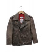 Maison Margiela(メゾンマルジェラ)の古着「ダブルライダースジャケット」|ブラック
