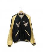 テーラー東洋(テーラートウヨウ)の古着「リバーシブルスカジャン」 ゴールド×ブラック