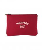 HERMES()の古着「ボンディングポーチ」|レッド