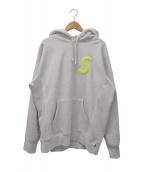 Supreme(シュプリーム)の古着「Sロゴフーデットスウェットシャツ」|アッシュグレー