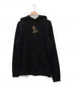 OCTOBERS VERY OWN(オクトーバーズ ベリー オウン)の古着「ロゴ刺繍プルオーバーパーカー」 ブラック