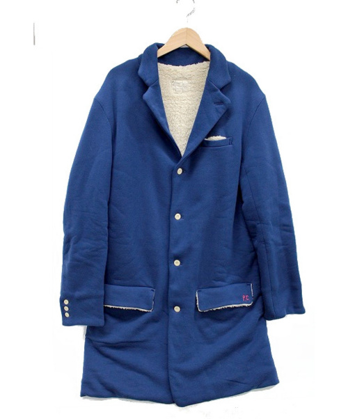 Porter Classic(ポータークラシック)Porter Classic (ポータークラシック) 裏ボアテーラードコート ブルー サイズ:XLの古着・服飾アイテム