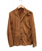 EMMETI(エンメティ)の古着「スウェードジャケット」 ブラウン