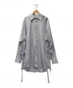 DRESSEDUNDRESSED(ドレスドアンドレスド)の古着「オーバーサイズシャツ」 サックスブルー