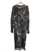 LEONARD(レオナール)の古着「カットソーワンピース」|ブラック