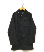 Barbour(バーブァー)の古着「ミドルウールベルテッドコート」|ネイビー