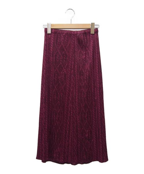 PLEATS PLEASE(プリーツプリーズ)PLEATS PLEASE (プリーツプリーズ) プリーツスカート パープル サイズ:2の古着・服飾アイテム