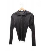 PLEATS PLEASE(プリーツプリーズ)の古着「プリーツシャツ」|グレー