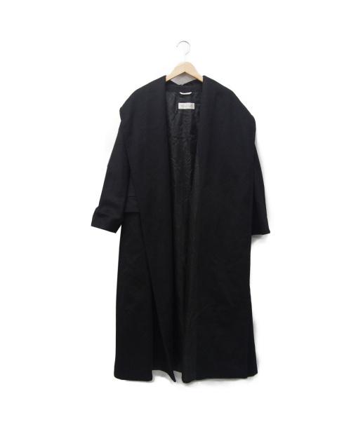 MaxMara(マックスマーラ)MaxMara (マックスマーラ) カシミヤショールカラーコート ブラック サイズ:J38の古着・服飾アイテム