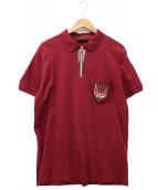 PRADA(プラダ)の古着「ポロシャツ」|レッド