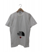 PLAY COMME des GARCONS  × THE NORTH FACE(プレイ コムデギャルソン×ザノースフェイス)の古着「ハートロゴプリントTシャツ」|ホワイト