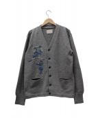 Porter Classic(ポータークラシック)の古着「刺繍カーディガン」|グレー
