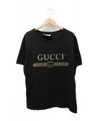 GUCCI(グッチ)の古着「ヴィンテージロゴTシャツ」|ブラック