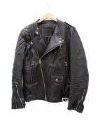 JAM HOME MADE(ジャムホームメイド)の古着「レザーダブルライダースジャケット」|ブラック