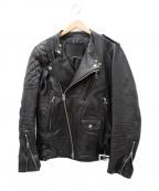 JAM HOME MADE(ジャムホームメイド)の古着「レザーダブルライダースジャケット」 ブラック