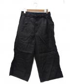 YANTOR(ヤントル)の古着「リネンパンツ」 ブラック