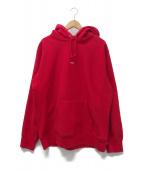 Supreme(シュプリーム)の古着「マイクロロゴフーデッドスウェットシャツパーカー」|レッド