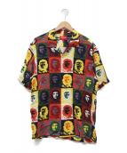 Supreme(シュプリーム)の古着「チェレーヨンショートスリーブシャツ」 ブラウン