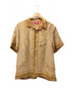 Supreme(シュプリーム)の古着「モザイクシルクシャツ」|ベージュ