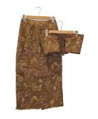 AMERI(アメリ)の古着「ヴァイオレットオビスカート」 ブラウン