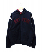 Supreme(シュプリーム)の古着「Jet Sleeve Zip Up Hooded Sweat」|ネイビー