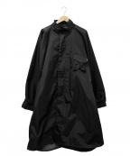 Comfy Outdoor Garment(コンフィーアウトドアガーメンツ)の古着「オーバーサイズナイロンコート」|ブラック